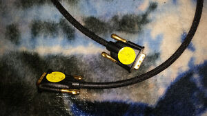 Monster DVI cables with 24 carat gold tipped ends mint condition London Ontario image 2