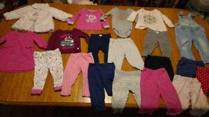 Lot of baby girl winter clothes 9-12 mos