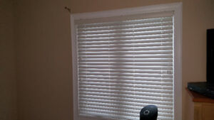 Window Vinyl  Blinds (very good condition) white color