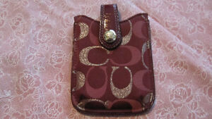 Coach Iphone 4 case holder- with magnetic closure-newer