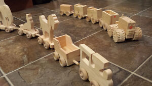 Hand made toy trains and cars Cambridge Kitchener Area image 2