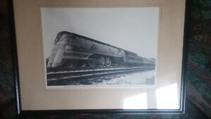 FRAMED PHOTO OF THE HIAWATHA TRAIN  CIR. 1940
