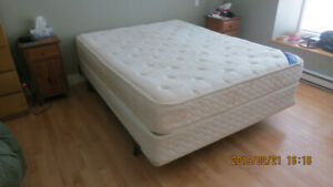 Queen Bed,  Box Spring & frame