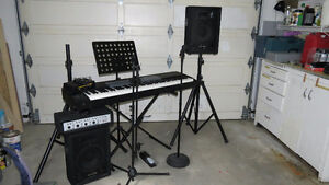 Electric Piano and PA System