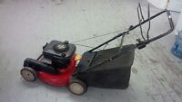 TURF POWER SELF PROPELLED LAWNMOWER WITH BAG - WORKS GREAT!