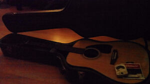 Ibanez Acoustic Guitar And Hard Case