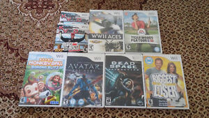Wii games for sale, 5 dollar each.