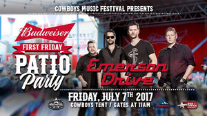4 Tickets to Emerson Drive at Cowboys Tent