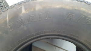 Set of 4 Trail 245 75 16 tires
