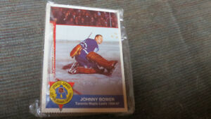 Johnny Bower/High Liner card and game 1993-94
