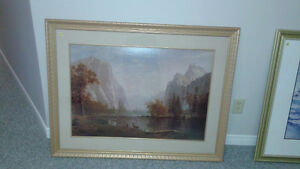 2 BEAUTIFUL FRAMED PICTURES IN EXCELLENT CONDITION