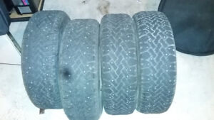 P205/70R14 studded winter tires x 4