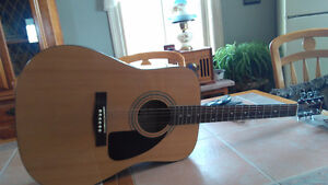 2 guitars - fender and epiphone