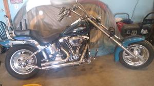 Harley-Davidson bike custom built Softail