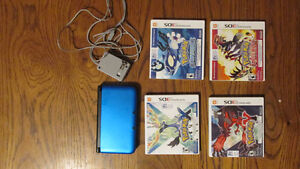 Nintendo 3DS XL (Blue - Lightly Used) w/ 4 Games & Charger