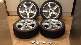 "Lexus is200 17"" x4 alloy wheel set like new tyres recently paintd 114.3 98-05 toyota is 200 is300 Px"