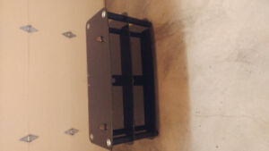 Heavy Black glass TV component stand