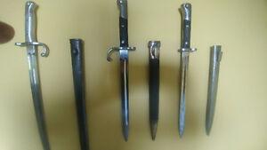II war I war bayonets