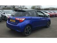 2018 Toyota YARIS HATCHBACK 1.5 Hybrid Blue Bi-tone 5dr CVT Auto Hatchback Petro