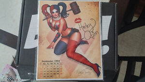 """Pin Up"" Harley Quinn Art Print Signed by Nathan Szerdy"