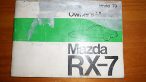 Mazda RX-7 owners manual