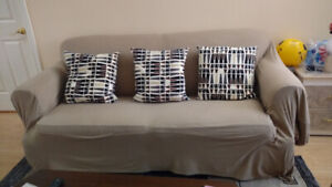 Sofa bed $100, chair $20 & coffee table $40 for sale