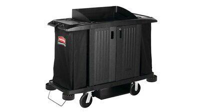 Rubbermaid Executive Series Full Size Housekeeping Cart Fg619100 Bla