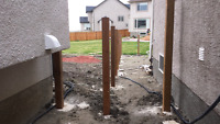 Expert Fence Post Drilling and setting
