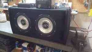 Dual 10 inch Phoenix Gold r-type subs with 800w jvc amp and deck