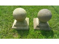 Capping stones and Stone Ball Finials