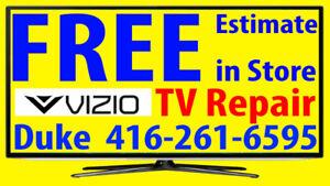 VIZIO TV repair LED, HDTV, LCD TV, NO POWER, No Picture