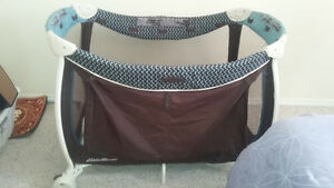 Eddie Bauer playpen with change table