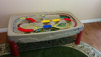 Step 2 - Deluxe Canyon Road Train & Track Table With Lid