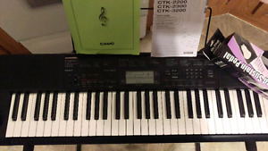 Casio CTK3200 Keyboard, Stand & Foot Pedal