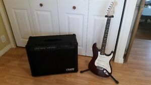 Fender Stratocaster and Crate Amp $900 Plus Guitar Case