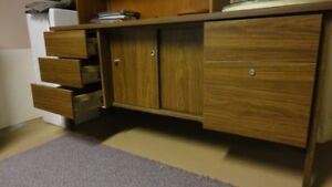 Office Credenza, Storage cabinet and glass top table
