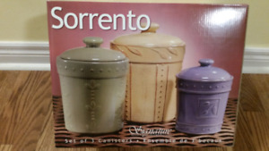 Sorrento - Set of 3 Canisters (NEW)