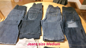 7 jeans stretch maternity and 2 3/4 jeans stretch maternity