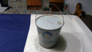 antique North Star Oil Company 25lb Grease pail