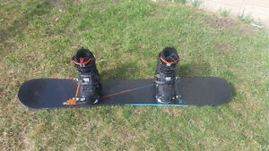 K2 Snowboard with DC boots