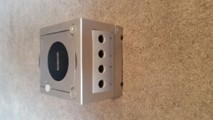 Silver Nintendo Gamecube with all hookups