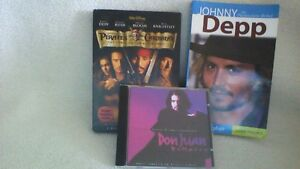 Johny Depp The Passionate Rebel plus a movie & music cd all $10. London Ontario image 1