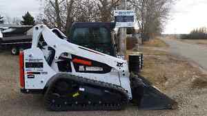 Bobcat with attachments, truck and trailers for hirer