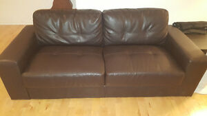 Moving: New for Cheap! Bonded Leather Couch