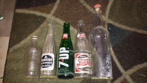 Vintage bottle collection