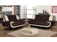 Same Day Fast Delivery!! New 3 and 2 Seater Carol SOFA SET IN BLACK/WHITE, BLACK/RED AND GREY/WHITE