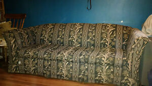 Matching patterned Couch and Loveseat