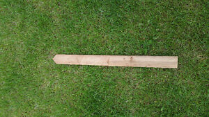 Pressure treated or cedar Pointed fence pickets