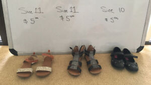 Girls shoes (age 5-7) size 10/11