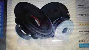 """Two SSA gcon 15"""" subwoofers in custom box"""